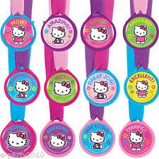 HELLO KITTY RAINBOW AWARD MEDALS (12) ~ Birthday Party Supplies Favors Sanrio