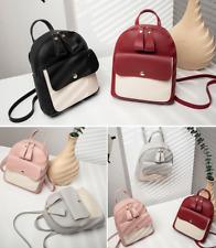 US Women Girls School Bag PU Leather Backpack Mini Rucksack Travel Handbag Purse
