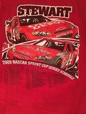 2009 Nascar Sprint Cup Series Schedule TONY STEWART #14 Home Depot Men's 2XL