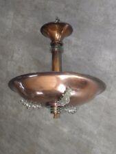 Lámpara Colgante Lámpara de Techo Colgante Art Deco Vidrio Cobre Bauhaus Vintage