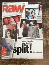 RAW magazine 1995 OASIS Moby Blur Sleeper Levellers Ash Supergrass Stone Roses