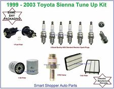 Tune Up Kit for 1999-2003 Toyota Sienna: Spark Plug, Air, Oil, Fuel Filter, PCV