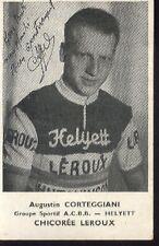 AUGUSTIN CORTEGGIANI cyclisme vélo 50s signée LEROUX