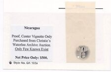 Nicaragua Proof Airmail Waterlow and Sons Vignette subject
