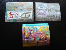 DELLE NAZIONI UNITE new york francobollo blocco yt n° 11 12 13 n Z1 stamp