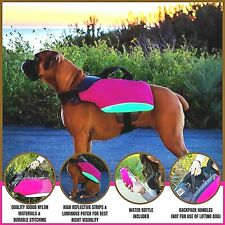 Bum's Dog Backpacks Hiking Pack Saddlebag for Dogs Water Resistant  Pink L