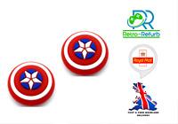 2X Nintendo Switch Thumb Grip Caps Joy Con Switch Marvel Captain America Shield