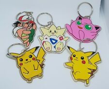 Lot lotto 5 portachiavi Keyring POKEMON PIKACHU