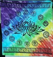 "36"" Chakra Lotus Rainbow Tie Dye Altar Cloth Wiccan Pagan Altar RAC008"