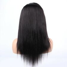 """14"""" Discount Lace Front Wig Cut Extra Lace 100% Real Human Hair Black Lace Wigs"""