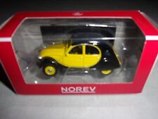 1/64 3-INCHES CITROEN 2CV CHARLESTON NOIR/JAUNE 1982 NOREV:319225C