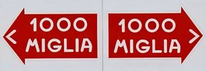 Mille Miglia Directional Stickers