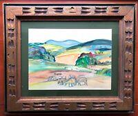 HELENA K. BEACHAM__Bucks County PA Artist__Orig Signed Watercolor__SHIPS FREE