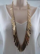 Lucky Brand gold tone~charm long necklace, NWT