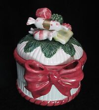 Fitz & Floyd 1992 Covered Candy Dish or Trinket Box