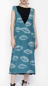 Dries van Noten silk midi 'lips' dress, size 36, Aus 8