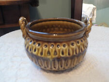 """Collectible Signed E-8263 Ornate Art Pottery Bowl 5 x 3 1/2""""  3 Little Feet NICE"""