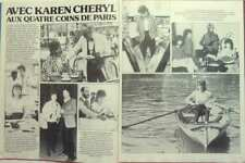 KAREN CHERYL => COUPURE DE PRESSE 2 pages 1982 / FRENCH CLIPPING