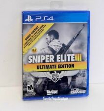 PS4 Sniper Elite III Ultimate Edition Sony PlayStation 4 New Factory Sealed