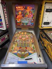 1965 Gottlieb Kings And Queens Pinball Machine Tommy Elton John Pinball Wizard