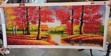 Autumn Scene Sticker art (over 6k jewel stickers hand-placed)