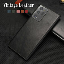 For Samsung Galaxy Note 20 Ultra Shockproof Luxury Vintage PU Leather Case Cover