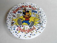 "VINTAGE 3"" PROMO PINBACK BUTTON #92-096 - DISNEY - HAPPY NEW YEAR 1990"