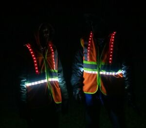 Safety Vest High Visibility LED Lights
