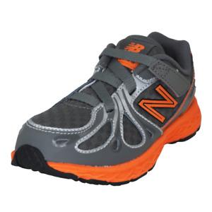 New Balance KV890GOI Toddler Shoes Grey Mesh Adjustable Athletic Orange New Sz 8