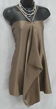 Society for Rational dress mini dress tunic top scarf drape sexy silk hot XS NEW