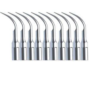 10× Dental Ultrasonic Piezo Scaler Scaling Tip Type Fit Woodpecker Style G2