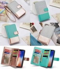 Wallet PU Leather Purse Card Flip Case Removable Cover For iPhone XS XR 8 7 Plus