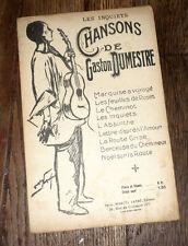 les inquiets extrait des Chansons de Gaston Dumestre partition piano chant 1918