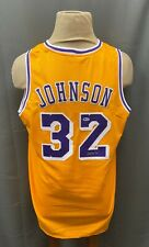 Magic Johnson #32 Signed Lakers Jersey Autographed Sz XL BAS WITNESSED COA HOF