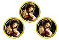 Sainte Mère Mary et Bébé Jésus Marqueurs de Balles de Golf