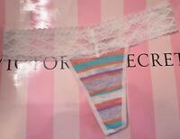 NEW Vintage Victoria/'s Secret Lace /& floral thong sealed in bag RARE Size Small