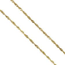 29f16c4c2a8c Original 10 Quilates Oro Amarillo Collar 1.5mm Singapore Cadena Auténtico  de 24