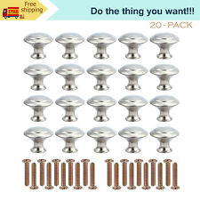 20PCS Door Handles Cabinet Knobs Cupboard Drawer Kitchen Knobs Chrome