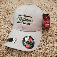 NWT Billy Casper Golf Classic UTAH Beige Strapback Hybrid Flexfit Tech Hat PGA