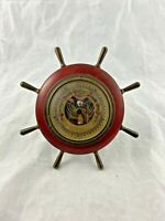 Vintage - Nautical - Helm - Ship Wheel - Barometer - West Germany