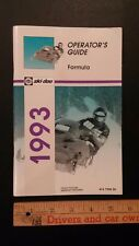 "1993 Ski-doo ""Formula"" Operators Guide  Excellent Condition - (CDN)"