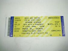 Dame Edna Back with a Vengeance Ticket ONLY 2005 Music Box