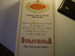 Whisky Strathisla 1948 & 1961 Royal Wedding Charles and Diana Limited Edition