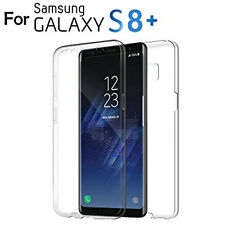 360 Full Body Protection Front and Back Case for Samsung Galaxy S8 Plus Clear