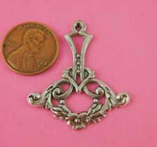 Floral Drop-1 Pc(s) Antique Silver Art Nouveau