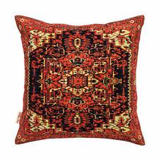 "Persian Rug Inspired Multi  Rust Black Cushion Cover 43x43cm-16""x16""-50%OFF"