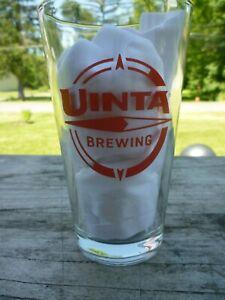 Uinta Brewing Company Pint Beer Glass - Salt Lake City , Utah