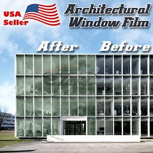Medium Green Window Tint Film UV Heat Reflective Home Office #4