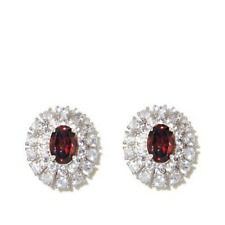 Colleen Lopez 3.72ct Natural Zircon Stud Earrings Pierced Sterling Silver NEW