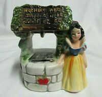 VTG  WALT DISNEY Productions  SNOW WHITE WISHING WELL PIGGY BANK & STOPPER